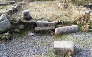 Restos arqueológicos junto a la Torre de Aguiar