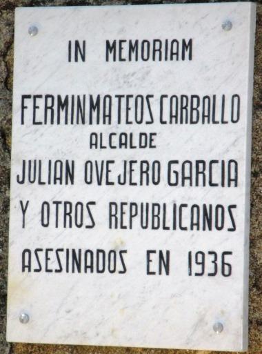 Placa conmemorativa Robleda