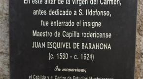 CONCIERTO HOMENAJE Y PLACA CONMEMORATIVA EN HONOR DE JUAN ESQUIVEL DE BARAHONA